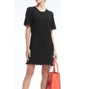BANANA REPUBLIC - NWT black Pom Pom dress